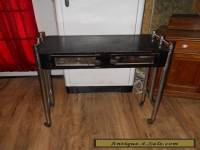 Vintage Art Deco Barbershop Manicure Table