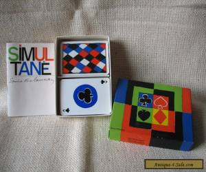 Vintage 1964 Sonia Delaunay SIMULTANE 2 Decks PLAYING CARDS for Sale