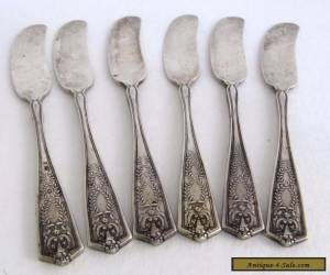 Antique 1909 Winthrop Tiffany & Co. Sterling Silver Butter Spreaders Knives Set  for Sale