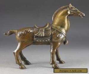 Chinese Brass Old Handwork Hammered Steed Superb Statue Lucky Collectable for Sale