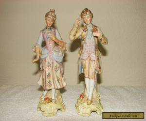 Antique Kalk German Porcelain Gentleman Lady Figures for Sale