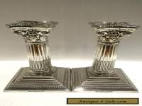 "Pair of Corinthian Silver Plated 6"" Candlesticks Beautiful Condition"