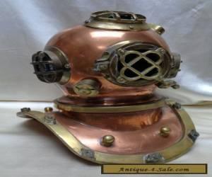 Antique Estate Found Copper & Brass Deep Sea Diver Decorative Helmet Piece for Sale