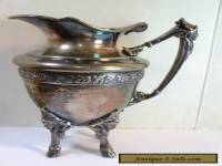 Antique VICTORIAN CREAMER w/ FACES / MASKS Simpson Hall Miller Quadruple Plate