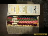 Antique Dewhursts sylko embroidery thread with original box