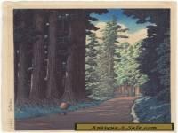 Kawase Hasui,   Road to Nikko,  Original Lifetime print