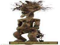 Songye Power Figure Nkishi with Feathers Congo African Art