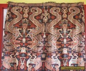 LARGE VINTAGE HAND WOVEN SUMBA HINGGI IKAT COLLECTABLE TEXTILE INDONESIA for Sale