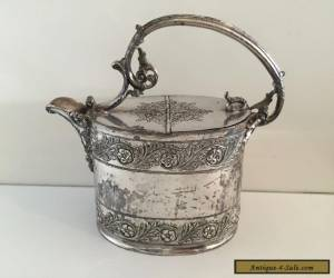 PHILIP ASHBERRY & SONS ELABORATE VICTORIAN SILVER PLATE WATER JUG EPBM 1800s for Sale