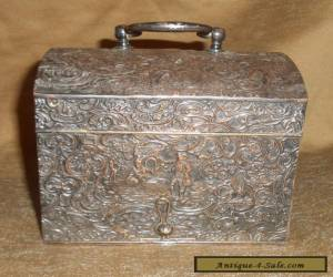 Antique Barbour Silver Co. Box Intricate Design Silverplate for Sale