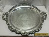 "VINTAGE POOLE LANCASTER ROSE 400 SILVER EPC LARGE 30"" SERVING TRAY"