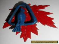 "Vintage Door Knocker Metal Painted Blue Bird & Red Maple Leaf About 5"" x 4 1/2"""