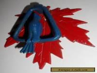 "Vintage Door Knocker Metal Painted Blue Bird & Red Maple Leaf About 5"" x 4 1/2"""