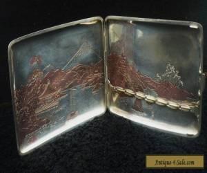 Japanese Cigarette Case, Sterling Silver, c.1940's for Sale