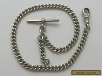 Antique Sterling Silver Albert Watch Chain.