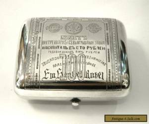 ANTIQUE RUSSIAN SOLID SILVER COIN PURSE / WALLET c. 1900 for Sale
