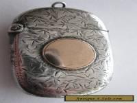 Silver and gold vesta case 1897