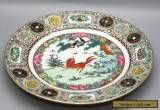 Exquisite Antique Hand Painted Chinese Famille Verte Porcelain Plate Circa 1800s for Sale