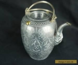 """Nice antique chinese pewter tea pot, 4 1/2"""" tall for Sale"""