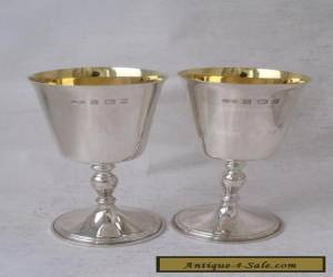 Nice Pair of Solid Sterling Silver Goblets 1974/ H 11 cm/ Gilt Iteriors for Sale