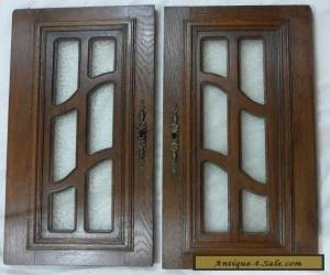 pair  antique FRENCH wood door  with glass  for Sale
