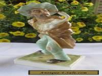 Irish Dresden MZ  Porcelain Figurine Signed (The Goose Thief) Very Detailed!!