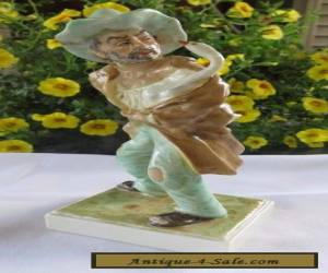 Irish Dresden MZ  Porcelain Figurine Signed (The Goose Thief) Very Detailed!! for Sale
