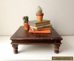 Antique Primitive Tea Table, Vintage Wood Altar Table for Sale