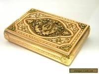 ANTIQUE CONTINENTAL SOLID GOLD SNUFF BOX HANAU GERMANY c. 1830 4 COLOUR GOLD