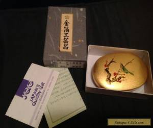 New in box, Japanese Amita Box with gold leaf for Sale