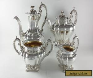 ANTIQUE EARLY VICTORIAN SOLID STERLING SILVER 4 PIECE TEA SET LDN 1842 for Sale