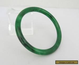 Natural Green Black Jadeite Jade Bangle Bracelet 56MM for Sale