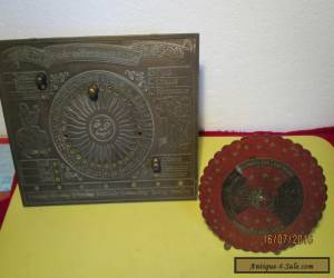 OUT OF THE SHED-VINTAGE BRASS CALENDARS-ROUND-SQUARE. for Sale