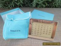 Genuine Vintage Tiffany Perpetual Calender, Blue Box, Sterling Silver, Marked.
