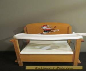 Vintage mid century wood childs potty chair mouse design for Sale