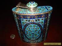 Amazing Antique/Vintage Massive Sterling Silver Handcrafted Flask.925 222g