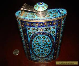 Amazing Antique/Vintage Massive Sterling Silver Handcrafted Flask.925 222g  for Sale