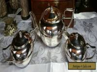 "VINTAGE ANTIQUE ""PERFECTION"" SILVER PLATE TEA SET"
