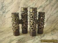 "ROBERT STANTON ""Brutalist/Modernist"" Brass Double Candle Holders SET/2 MCM VTG"