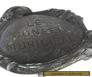 Vtg French Le Conseil Municipal Sign Door Knocker Architectural Salvage  for Sale