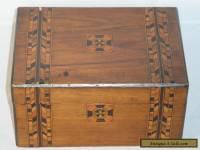 ANTIQUE TUNBRIDGE? WARE MARQUETRY INLAID WOODEN JEWELLERY OR TRINKET BOX