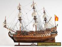 "San Felipe Handcrafted Wooden Tall Ship Model 37"" Spanish Galleon T063"