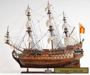 "San Felipe Handcrafted Wooden Tall Ship Model 37"" Spanish Galleon T063 for Sale"