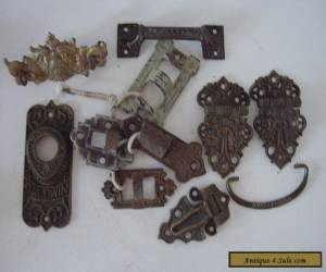 Lot Of Antique Furniture Door & Cabinet Hardware Pieces & Parts for Sale