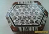 Antique Tunbridge mother of pearl inlaid trinket box  for Sale