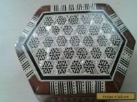 Antique Tunbridge mother of pearl inlaid trinket box