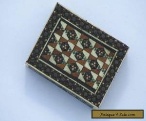 Small Vintage Inlaid Wooden Box for Sale