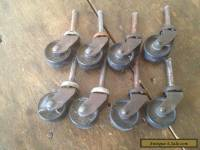 Vintage Lot of 8 Furniture Casters Wheels