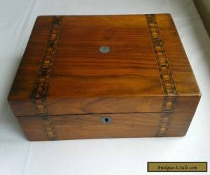 Late 1800's Antique Inlaid Wooden Box. for Sale