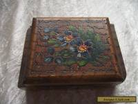 Vintage Wooden hand Painted Floral Box